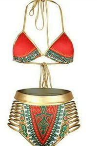 High Waisted Bikini Swim Wear